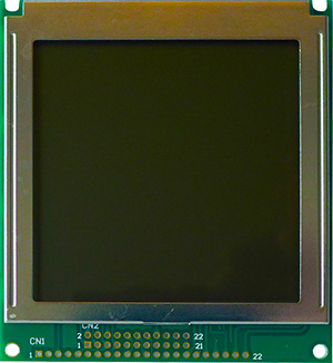 LCD, 160x160 dots, STN positive, LED backlight, wide temp. + custom PCB design