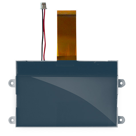 LCD, COG, 255x128 dots, FSTN pos/white LED, custom design