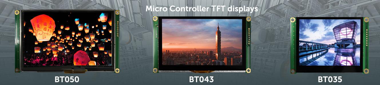 Micro Controller TFT displays